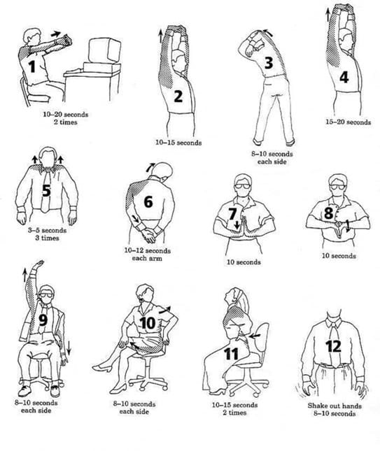 Office Stretches to help promote physical health