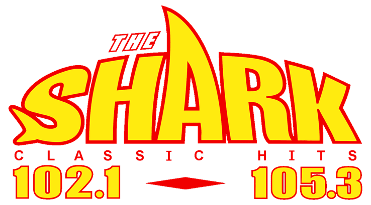 The Shark Radio Station 102.1 105.3 Logo